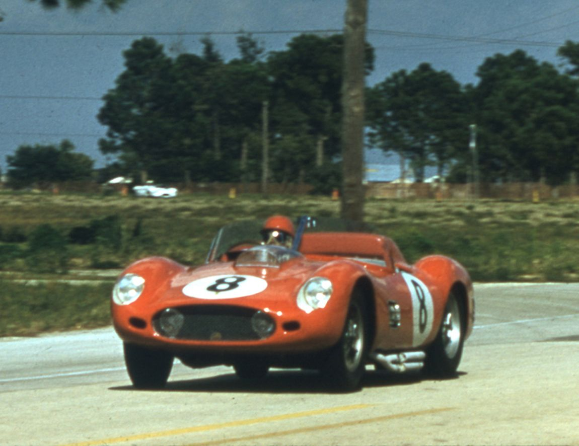 The Nethercutt - Lovely Testa Rossa finished 3rd overall and ten laps behind the winning Porsche.  Seven Ferraris finished in the top ten in 1960.  BARC boys photo.