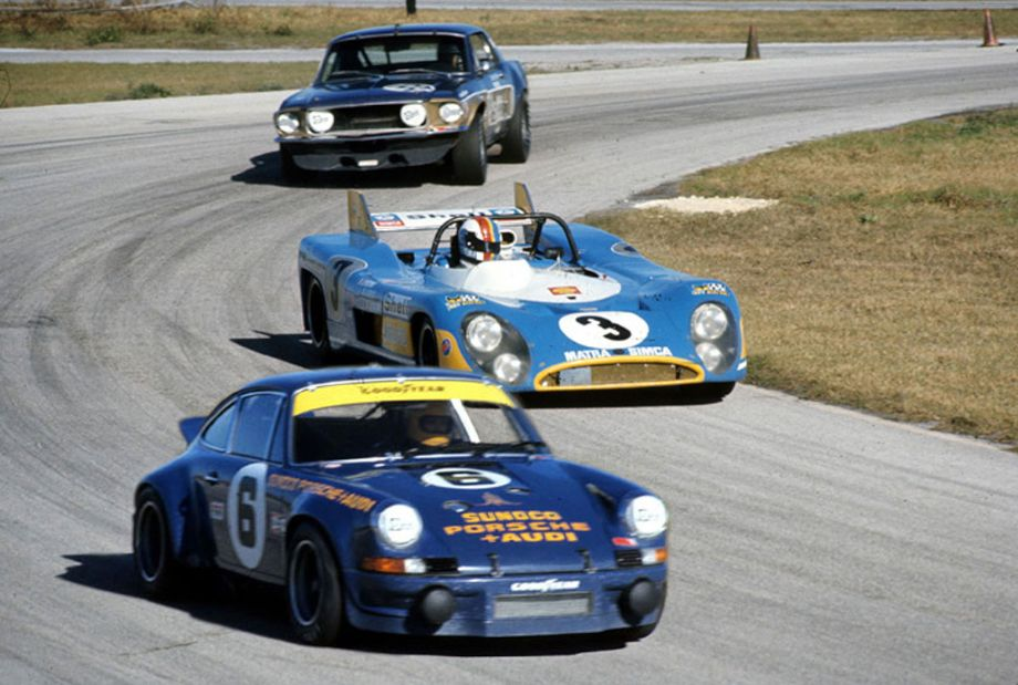 The Matra could have challenged the Mirage for the lead but preferred a slower pace not much faster than the Penske Carrera.  Autosports Marketing Associates, Ltd. photo.