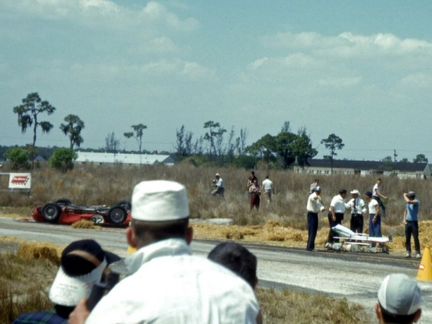 Maserati of Carlos Menditeguy at 1956 Sebring 12 Hours