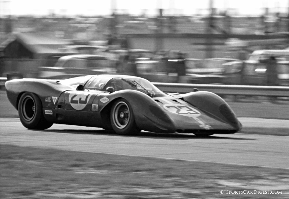 NART Ferrari 312P of Tony Adamowicz and David Piper ran the last five and one-half hours without coolant and managed fifth overall. (Lou Galanos photo)