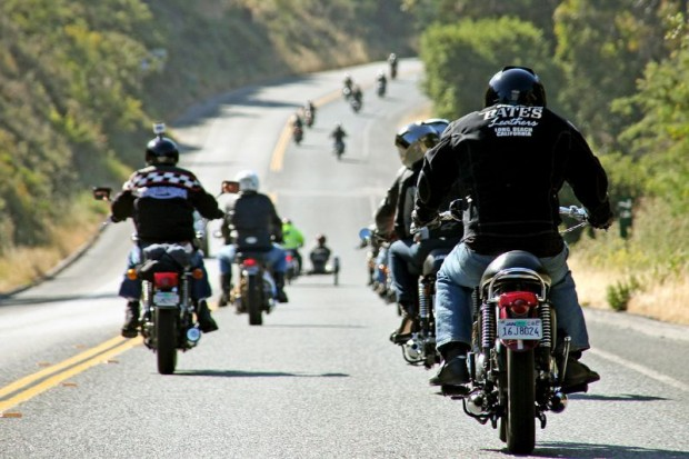 The Quail Motorcycle Gathering began with The Quail Ride the day before, the same way it will begin again next year for the fourth annual edition of this prestigious show and concours.  (The Quail Ride photo: Maurice Q. Lainge)