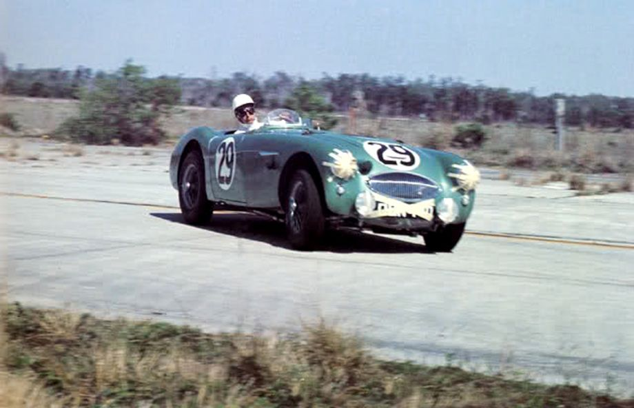 Austin-Healey 100S at 1956 Sebring 12 Hours