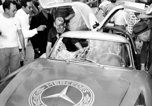 After the unpleasant encounter with a vulture at the third Carrera Panamericana Mexico, 1952
