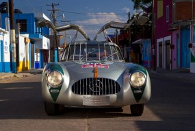 Front view of the Mercedes-Benz 300 SL W194, winner of the 1952 Carrera Panamericana.