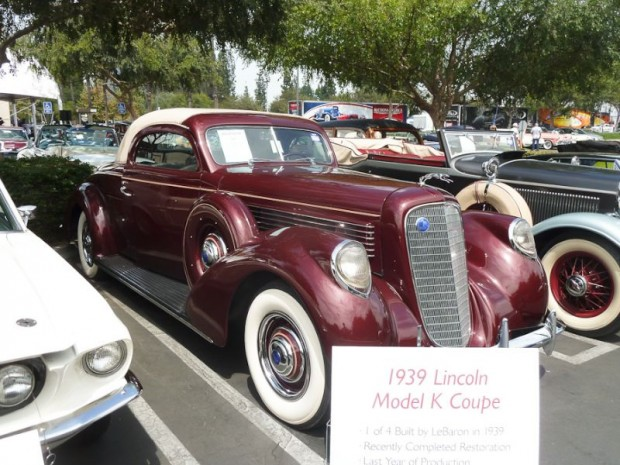 1939 Lincoln Model K Coupe, Body by LeBaron