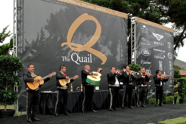 The Dany Cobo Mariachi Ensemble on stage during awards delay.  Photo William Edgar