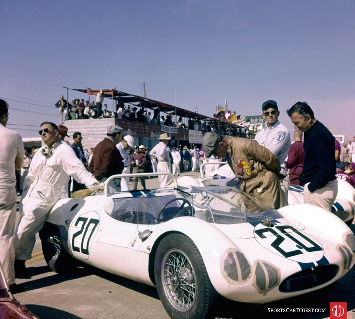 The Maserati Tipo 63 of Walt Hansgen and Bruce McLaren. It failed to finish due to a busted rear axle. (Photo: www.barcboys.com)