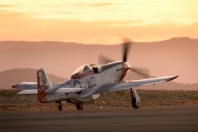 P-51 Ridge Runner taxis out during 2009 Reno Air Races