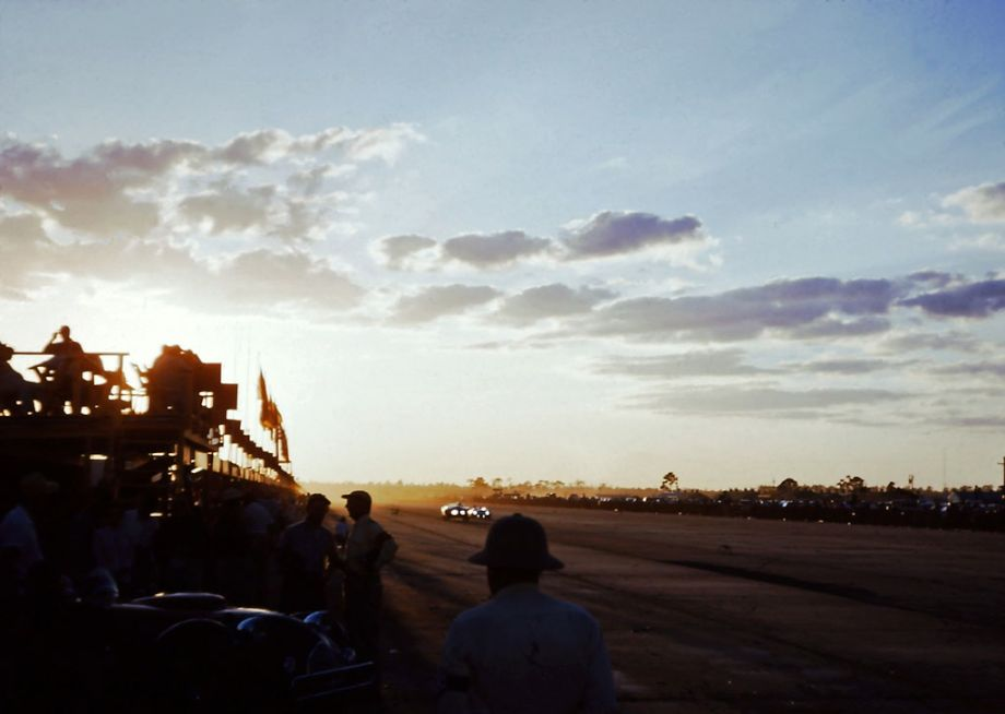 Sunset at the 1956 Sebring Twelve Hours
