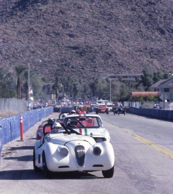 Phil Hill drove a borrowed XK120 Jaguar in the Fabulous Fifties Reunion Race. When he started racing, Hill owned a Jaguar in which he won the very first Pebble Beach on November 5, 1950.