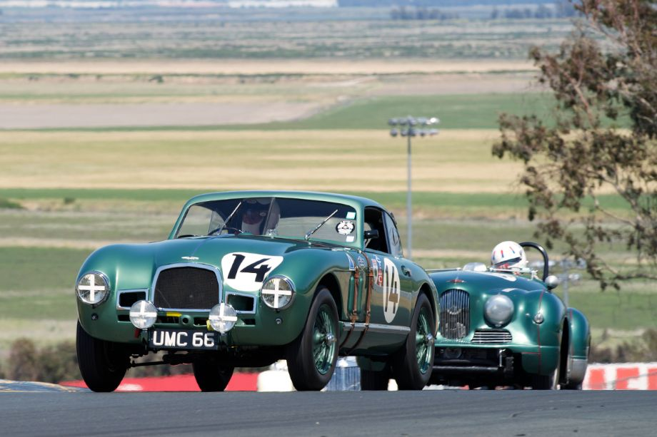 Tom Price in his 1949 Aston Martin DB2 prototype in two.