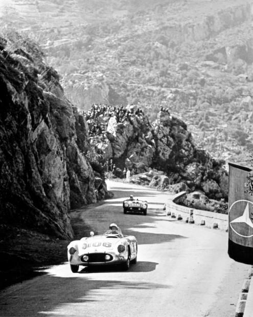 John Fitch, Mercedes-Benz 300SLR, 1955 Targa Florio