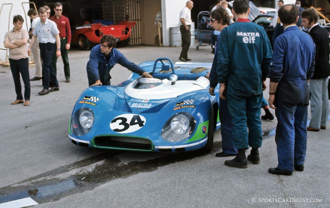 Matra-Simca MS650 of Jean-Pierre Beltoise and Henri Pescarolo that finished 18th overall at Daytona in 1970. (Fred Lewis photo)