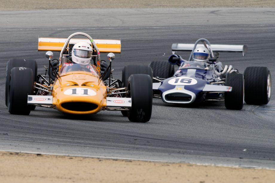 Martin Fogel's McLaren M10A and Alan Nicholas 1971 Brabham BT21.