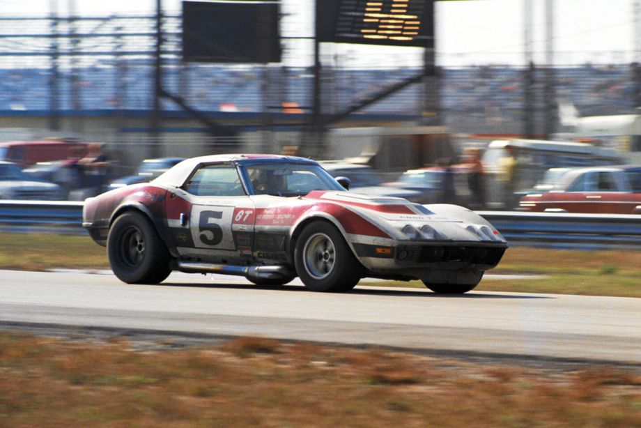 Twenty-six laps behind the leader and in third place was the Corvette of Dave Heinz, Bob McClure and Dana English.  Louis Galanos photo.