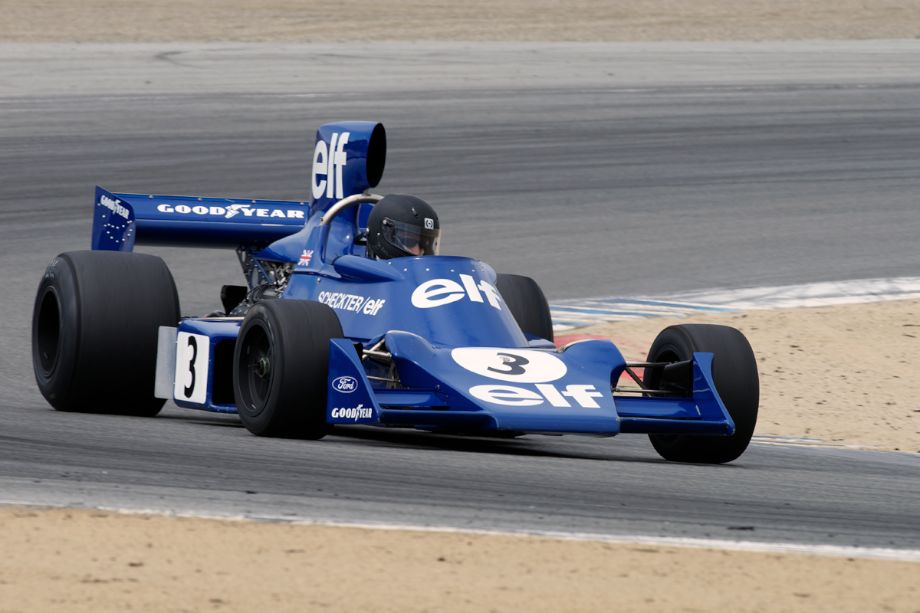 1974 Tyrrell 007 F1 driven by Nicholas Colyvas.