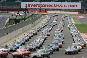 Jaguar E-Type Parade at Silverstone Classic 2011