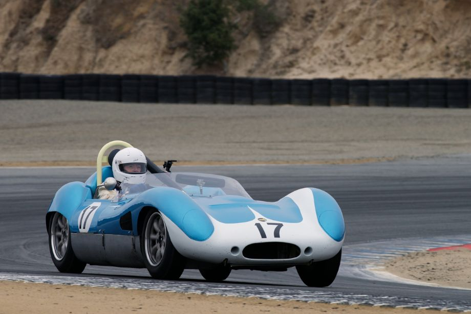 1960 Mk.I Lola driven by Forrest Tindall in turn two.