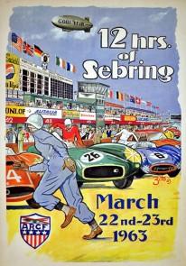 1963 Sebring 12 Hours poster