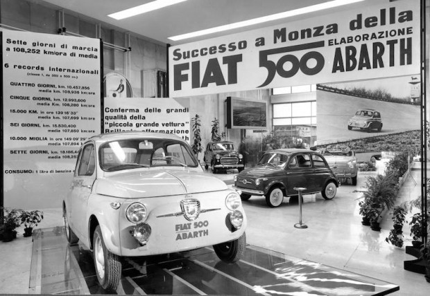 Fiat 500 Abarth in the showroom