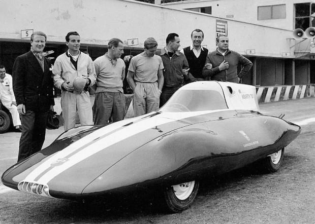 Fiat Abarth 750 with Bertone Coachwork at Monza, 1956