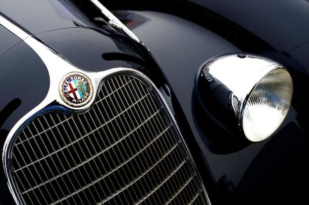 Detail shot of the 1938 Alfa Romeo 2900B, Jon Shirley