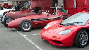 Alfa Romeo 8C-35, Maserati 250F and a McLaren F1