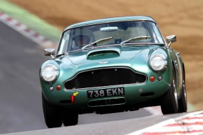 Aston Martin DB4 GT on track at Brands Hatch