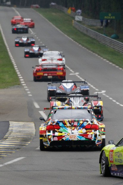Jeff Koons BMW M3 GTR Art Car on Mulsanne Straight at Le Mans