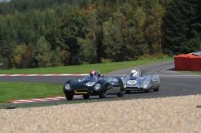 Philip Walker's Lotus XV leads the winning Lotus XV of Ewan McIntyre