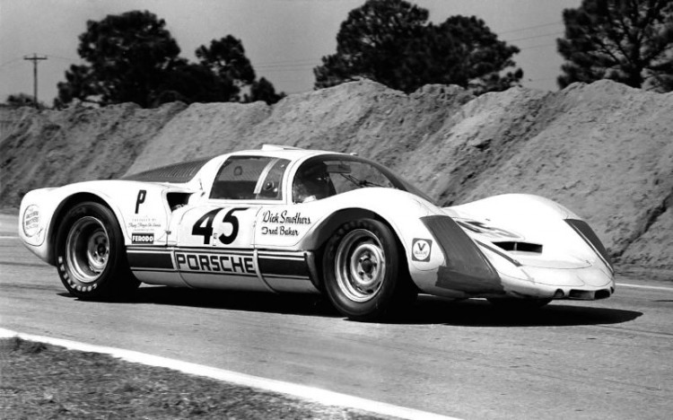 The Porsche 906E that comedian Dick Smothers and Fred Baker drove to 8th overall and first in class at Sebring in 1969. SIR photo.