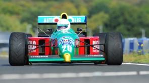 John Reaks in his ex-Piquet Benetton B190