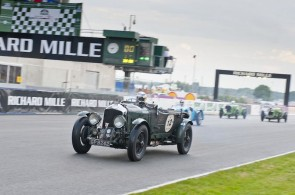 Derek Bell driving Blower Bentley at Le Mans Classic