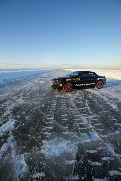 Bentley Supersports Ice Record Parked