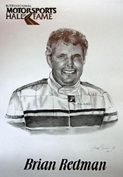 Brian Redman Portrait for International Motorsports Hall of Fame