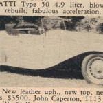 Bugatti Type 50 – Classic Cars for Sale