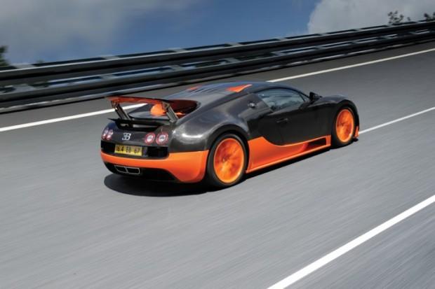 Bugatti Veyron Super Sport from the rear