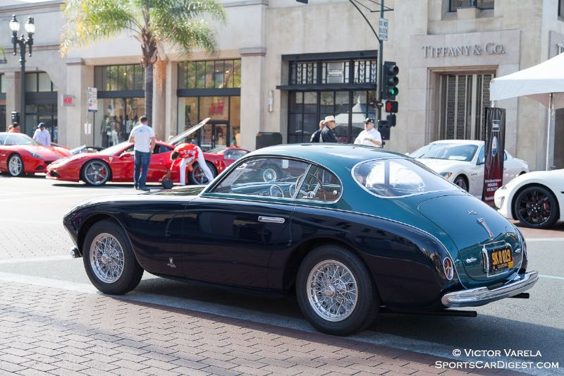 The 1952 Ferrari 212 Export Coupe owned by Peter McCoy, won Best in Show.