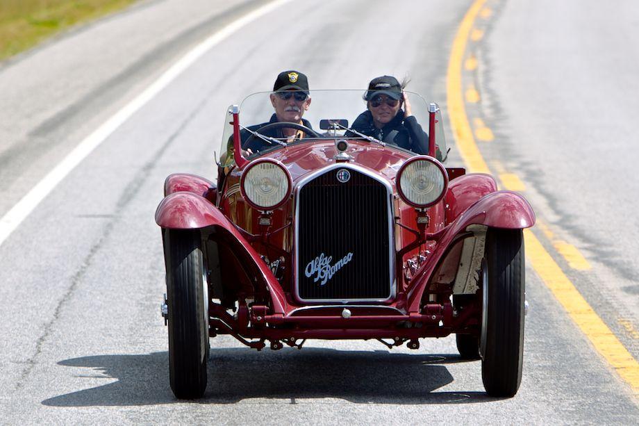 Bodied by Touring, the 1932 Alfa Romeo 8C 2300 of Gordon Barrett and Julia Fitzrov