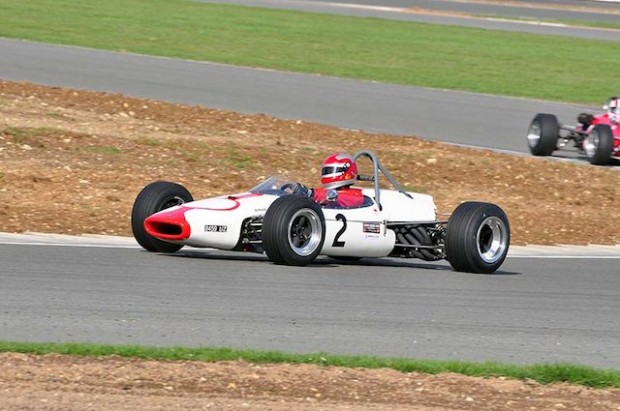 Brabham BT16 of Ian Gray on his way to victory