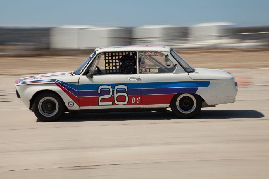 Tim Brecht at speed in his 1969 BMW 2002 TA.