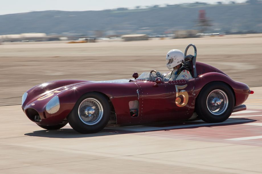 Gary Cox in his 1958 Jaguar Special during Saturday qualifying.