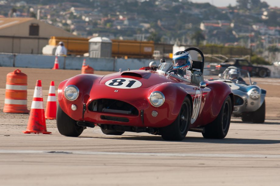 Lorne Leibel and his red beast - the 1964 Cobra.