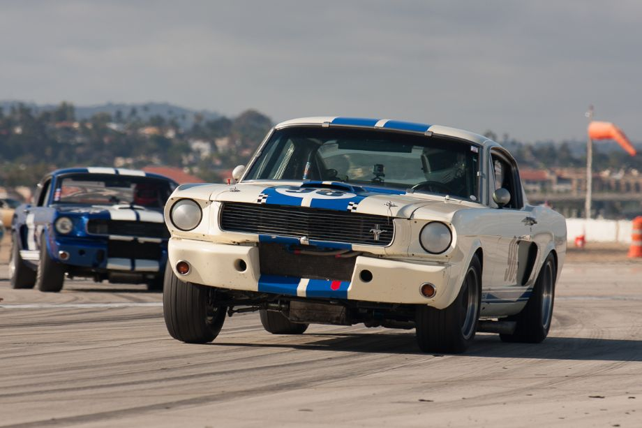 Marc Petein qualifying his 1966 Shelby GT350.