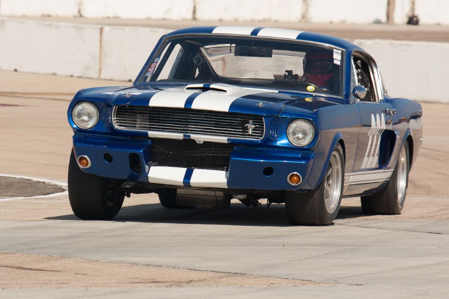 Craig Wright heads for the front straight in his 1966 Shelby GT350.