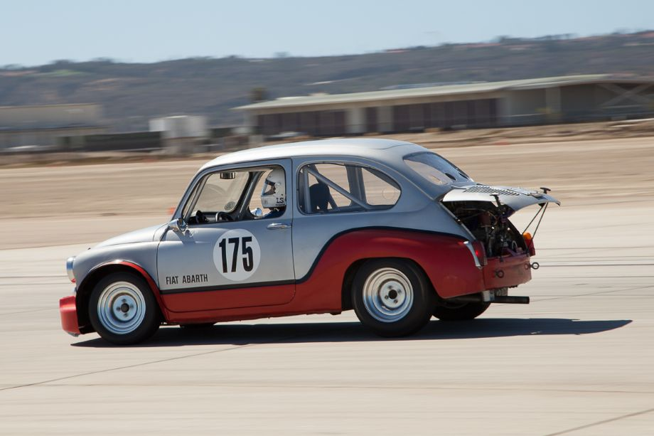 Ed Roll at speed in his 1964 Fiat Abarth 210 Berlino Corso.