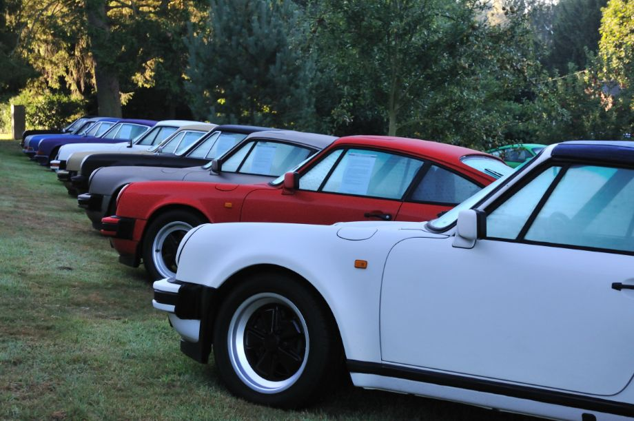 Paul Stephens display of 911's at Classics at the Castle 2013