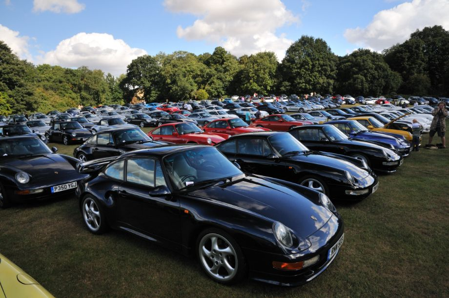 Parking lot for general attendees to the Classics at the Castle 2013 event