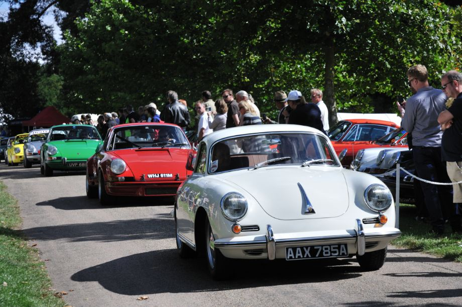 A Porsche 356 leading the parade of special cars during the Classics at the Castle 2013