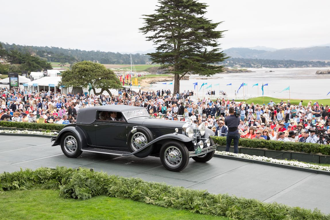 Class C-1: American Classic Open, Elegance in Motion Trophy and Best of Show Nominee, 1931 Stutz DV-32 LeBaron Convertible Victoria, Joseph & Margie Cassini III, West Orange, New Jersey
